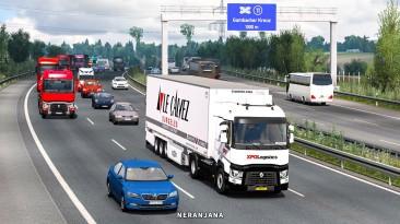 "Euro Truck Simulator 2 ""Реалистичные звуки трафика v1.40a (1.40.x)"""