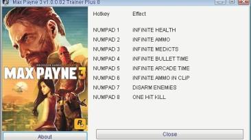 Max Payne 3: Трейнер/Trainer (+8) [1.0.0.82] {Retro/PlayGround.ru}