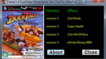 DuckTales Remastered: Трейнер/Trainer (+4) [1.0u4] {MaxTre}