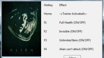 Alien: Isolation: Трейнер/Trainer (+4) [All Versions] {Cryptor}