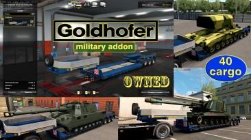 """Euro Truck Simulator 2 """"Военные грузы для низкорамника Goldhofer v1.4.5"""""""