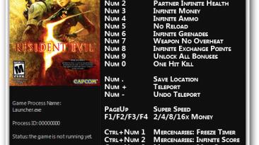Resident Evil 5 - Gold Edition: Трейнер/Trainer (+16) [1.0] {FLiNG}