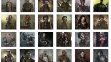 """Wasteland 2 """"Портреты различных ключевых НПС и наемников"""""""