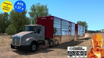 """American Truck Simulator """"Трейлеры для скота WILSON & Старые версии ATS 1.37.x"""""""