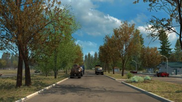 """American Truck Simulator """"Мод Early Autumn Weather Mod v1.0 by Grimes"""""""