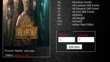 Age of Decadence: Трейнер/Trainer (+12) [1.2.0.0130: x64] {MrAntiFun}