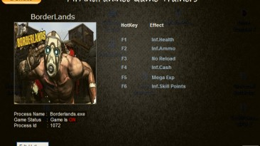 Borderlands: Трейнер/Trainer (+6) [1.5.0.0] {MrAntiFun}