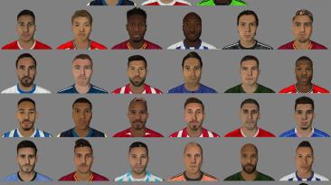 Большой сборник лиц и татуировок для FIFA 16