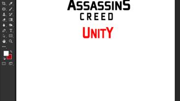"Assassin's Creed: Unity ""Шрифт для фотошопа и прочих редакторов"""