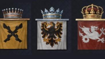 """Crusader Kings 3 """"Квадратные флаги вместо щитов"""""""