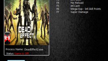 Dead Effect 2: Трейнер/Trainer (+8) [160912] {MrAntiFun}