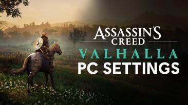 В новом ролике Assassin's Creed Valhalla рассказывается о настройках ПК-версии