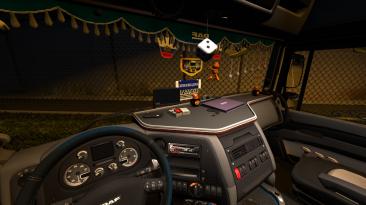 """Euro Truck Simulator 2 'Шагающая камера интерьера для грузовиков с видом из спального места и пассажирского кресла (ver. 1.01)"""""""
