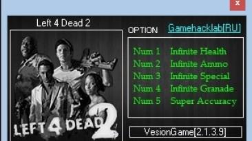 Left 4 Dead 2: Трейнер/Trainer (+5) [2.1.3.9] {LIRW / GHL}
