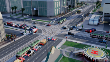 """SimCity (2013) """"Roads With No Traffic Lights - 1.5"""""""