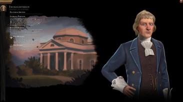 "Sid Meier's Civilization 6 ""Америка: Томас Джефферсон / Sukritact's Thomas Jefferson (America) [RUS]"""