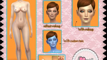 """THE Sims 4 """"Skin base by eluney-design"""""""