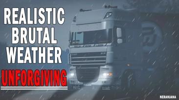 "Euro Truck Simulator 2 ""Реалистичная и безжалостная погода v6.4 (1.40.x)"""