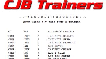 Cube World: Трейнер/Trainer (+8) [1.0] {CJB}