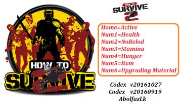 How to Survive 2: Трейнер/Trainer (+6) [20160919, 20161027] {Abolfazl.k}