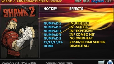 Shank 2: Трейнер/Trainer (+6) [All Versions: 1.0/Update 1 etc] {FLiNG}