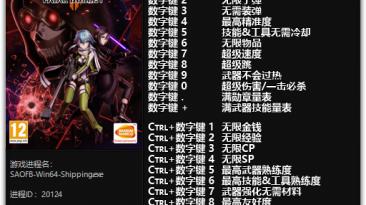 Sword Art Online: Fatal Bullet: Трейнер/Trainer (+21) [1.1.1 - 1.9.0] {FLiNG}