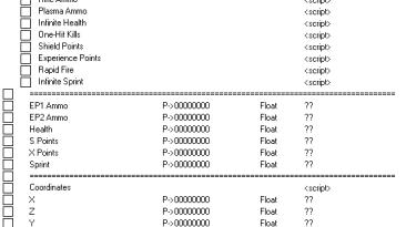 Hard Reset: Таблица для Cheat Engine [1.0] {STN}