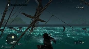 """Assassin's Creed 4: Black Flag """"Прикольный баг в игре"""""""