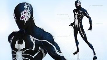 """Spider-Man: Web of Shadows """"New black suit Skin"""""""