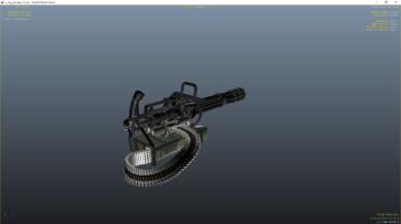 "Grand Theft Auto 5 ""M134 Minigun Black ВЕРСИЯ: 1.0"""