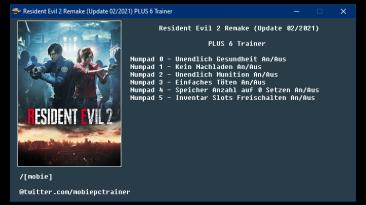 Resident Evil 2 Remake: Трейнер/Trainer (+6) [UPD:02.2021] {mobie}