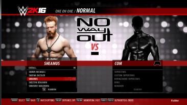 "WWE 2k16 ""Набор рендеров для бойца Sheamus"""