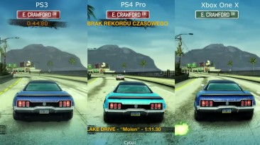 Сравнение графики - Burnout Paradise PS3 vs PS4 Pro vs Xbox One X