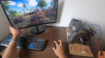 Геймер усилил вибрацию в играх с помощью промышленного электродвигателя