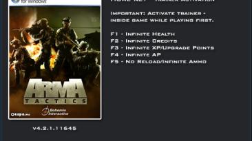 Arma Tactics: Трейнер/Trainer (+5) [4.2.1.11645] {LinGon}
