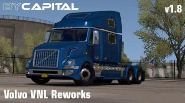 "American Truck Simulator ""Переделанный Volvo VNL v1.8 (1.39.x)"""