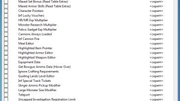 Monster Hunter World: Таблица для Cheat Engine [14.01.00] {Face007}