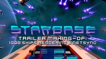1001 звездолёт в новом закулисном видео песочницы Starbase