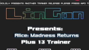 Alice - Madness Return: Трейнер (+13) [1.0 - Update 2] {LinGon}
