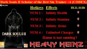 Dark Souls 2: Scholar of the First Sin: Трейнер/Trainer (+4) [1.01] {Heavy Heinz}