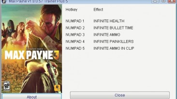 Max Payne 3: Трейнер/Trainer (+5) [1.0.0.57] {GRIZZLY/PlayGround.ru}