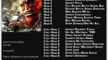 Attack on Titan: Трейнер/Trainer (+22) [1.0 - 1.02] {FLiNG}