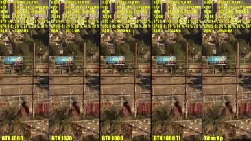 Dying Light Titan Xp Vs GTX 1080 TI Vs GTX 1080 Vs GTX 1070 Vs GTX 1060 Частота кадров Сравнение