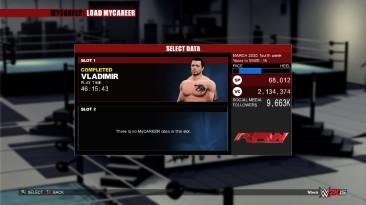 WWE 2K15: Сохранение/SaveGame (Пройдено 100%)
