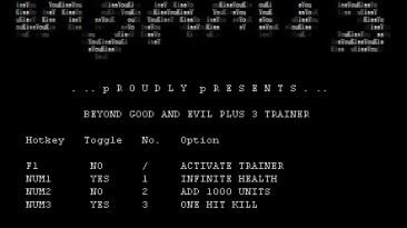 Beyond Good & Evil: Трейнер (+3) [1.0] {iNSANiTY}