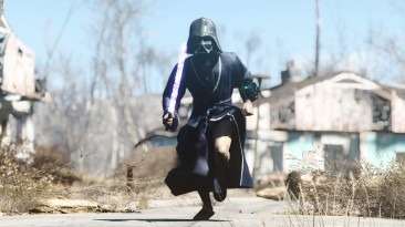 "Fallout 4 ""Броня Дарта Вейдера и световые мечи / Armor Darth Vader and Lightsabers"""