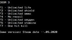 DOOM 3: Трейнер/Trainer (+7) [Steam] {LIRW / GHL}