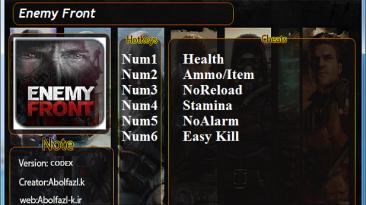 Enemy Front: Трейнер/Trainer (+6) [UPD: 08.12.19] {Abolfazl.k}