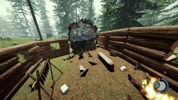 Возвращение на базу и сбор полезных предметов в игре The Forest