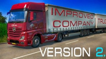 """Euro Truck Simulator 2 """"Мод Improved company trucks v2.1 (for 1.32) by AlexeyP"""""""